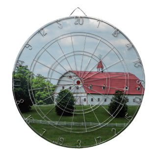 Traditional White and Red Barn Dartboard