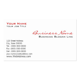 Traditional White Business Card