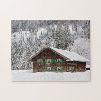 Traditional wooden house in Bavaria jigsaw Puzzles