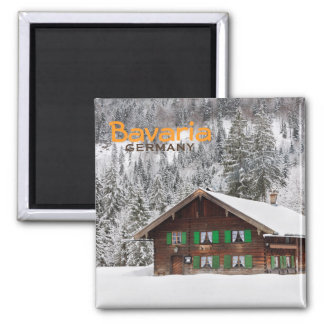 Traditional wooden house in Bavaria text magnet