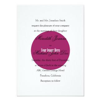 Traditional Wording (One Set of Parents Hosting) 14 Cm X 19 Cm Invitation Card