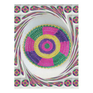 Traditional Woven Plate whirl Postcard