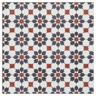 Traditional Zillij Moroccan Pattern Fabric