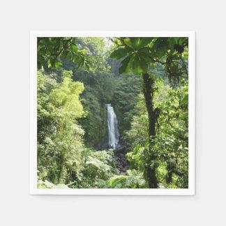 Trafalgar Falls Tropical Rainforest Photography Paper Serviettes