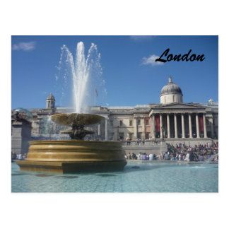 trafalgar fountain postcard