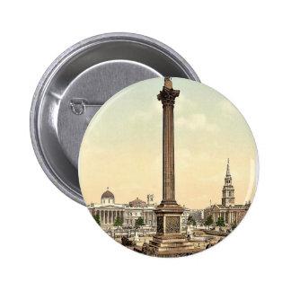 Trafalgar Square and National Gallery London Eng Pinback Button
