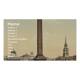Trafalgar Square and National Gallery, London, Eng Business Card Templates