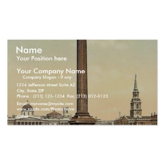 Trafalgar Square and National Gallery, London, Eng Business Card