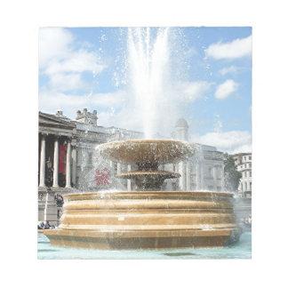 Trafalgar Square fountain London Notepads