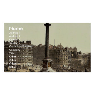 Trafalgar Square, from National Gallery, London, E Business Card
