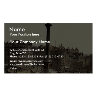 Trafalgar Square, from National Gallery, London, E Business Card Template