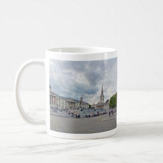 Trafalgar Square Full Panorama London England Basic White Mug