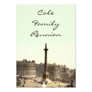 Trafalgar Square I, London, England 13 Cm X 18 Cm Invitation Card