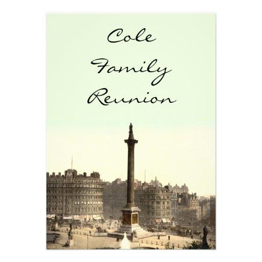 Trafalgar Square I, London, England Custom Invitations
