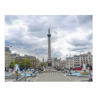 Trafalgar Square in London Postcard