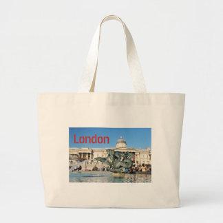 Trafalgar Square in London, UK Large Tote Bag