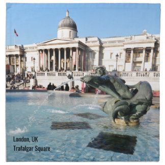 Trafalgar Square in London, UK Napkin