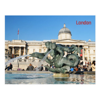 Trafalgar Square in London, UK Postcard