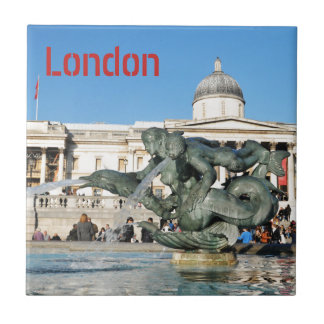 Trafalgar Square in London, UK Tile