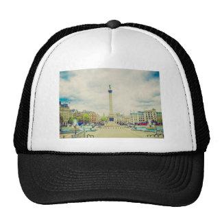 Trafalgar Square in London vintage Trucker Hats