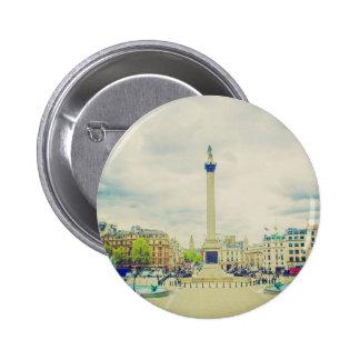 Trafalgar Square in London vintage Pin