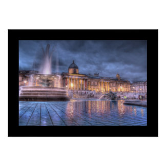 Trafalgar Square, London (Bordered) Print