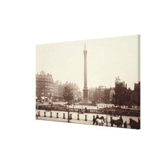 Trafalgar Square, London (sepia photo) Stretched Canvas Print