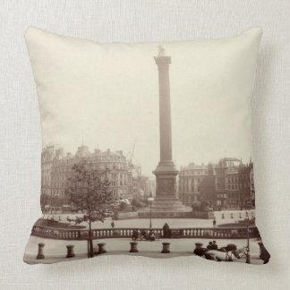 Trafalgar Square, London (sepia photo) Throw Pillows