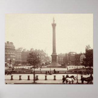 Trafalgar Square, London (sepia photo) Posters