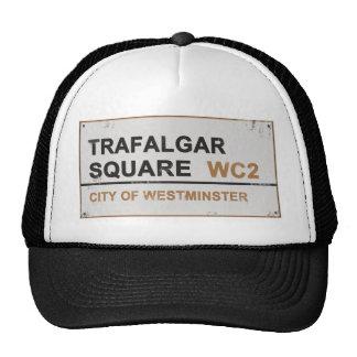 Trafalgar Square London - Vintage sign Mesh Hat
