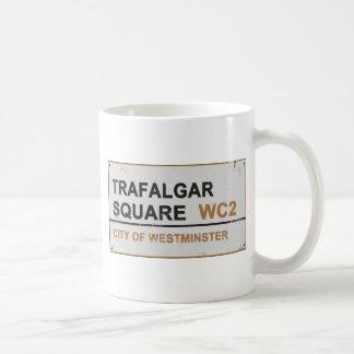 Trafalgar Square London - Vintage sign Coffee Mugs