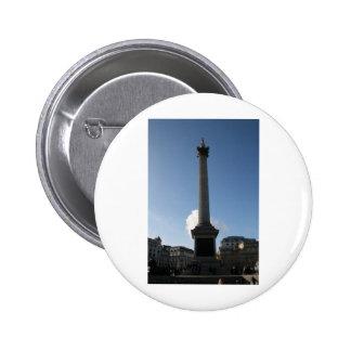 Trafalgar Square Monument Pinback Buttons