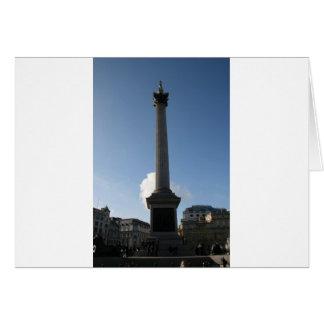 Trafalgar Square Monument Greeting Card