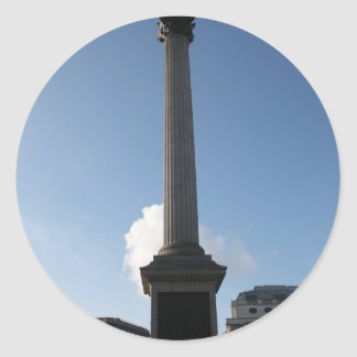 Trafalgar Square Monument Round Sticker