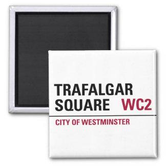 Trafalgar Square Sign Square Magnet