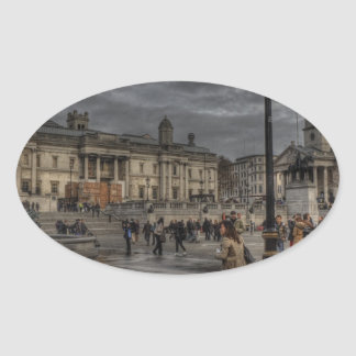 Trafalgar Square Oval Sticker