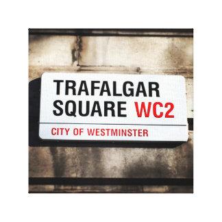 Trafalgar Square Street Sign Canvas Gallery Wrap Canvas