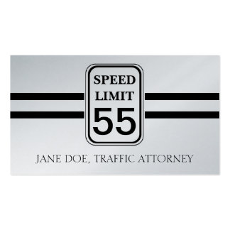 Traffic Attorney Lawyer Law Speed Limit Sign Business Card Templates