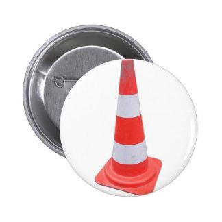 Traffic cone 6 cm round badge