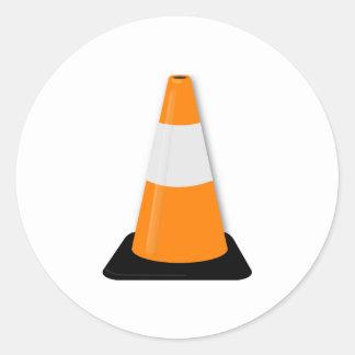 Traffic Cone Classic Round Sticker