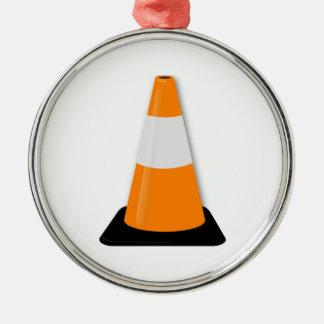 Traffic Cone Metal Ornament