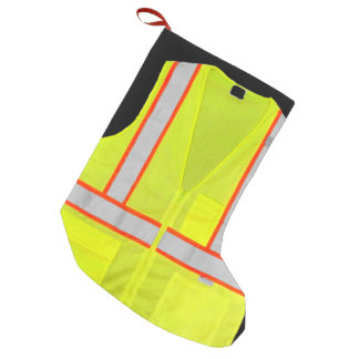 Traffic Director Safety Vest Christmas Stocking