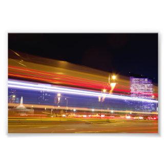 Traffic in Philadelphia at Night Photo