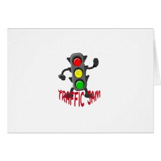 Traffic Jam Cute and Funny Design Card