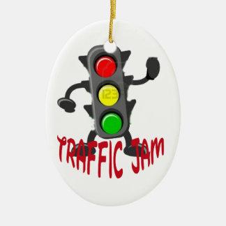 Traffic Jam Cute and Funny Design Ceramic Oval Decoration