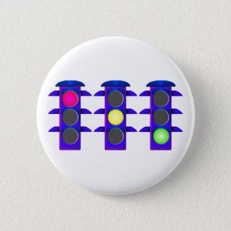Traffic light 6 cm round badge