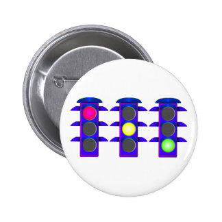 Traffic light 6 cm round badge