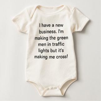 Traffic light baby grow bodysuit