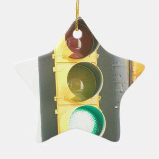 Traffic Light Ceramic Star Decoration