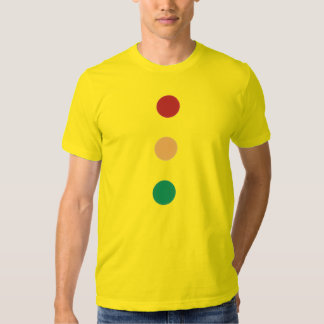 Traffic light colors circles on Tees